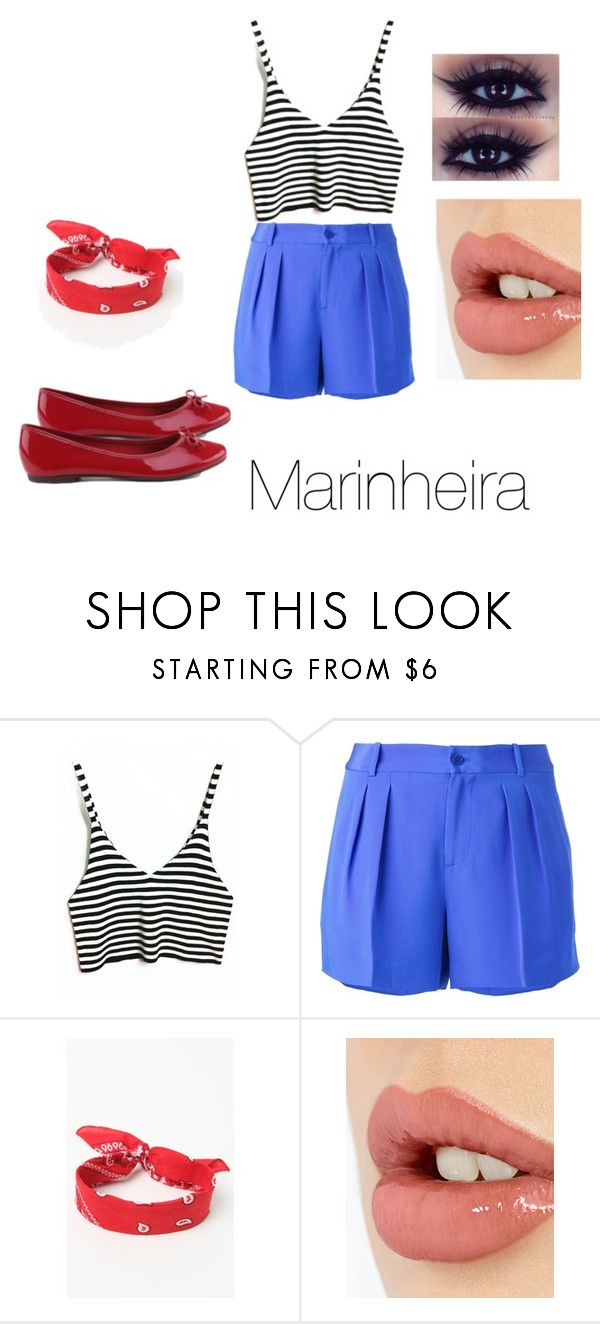 """Fantasias: Marinheira"" by rafah-0lliver ❤ liked on Polyvore featuring Polo Ralph Lauren, LA: Hearts and Charlotte Tilbury"