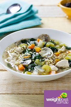 Chicken & Barley Soup. #HealthyRecipes #DietRecipes #WeightLossRecipes weightloss.com.au