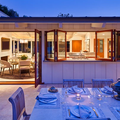Patio kitchen pass-through window Design Ideas, Pictures, Remodel and Decor