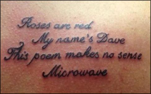 This is an epic microwave poem tattoo...