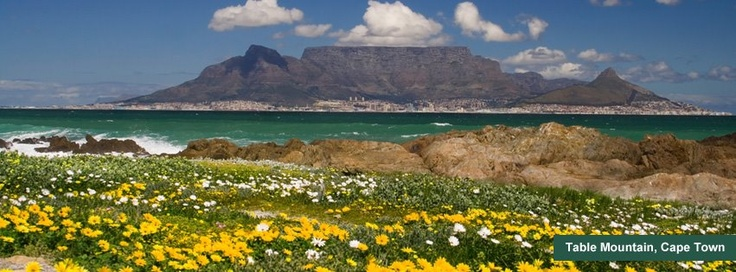 World Heritage Site - Table Mountain - some days clouds cover Table Mountain like a tablecloth...