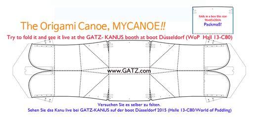 Gatz Kanus präsentiert weltweit ersten Origami Falt-Kanadier