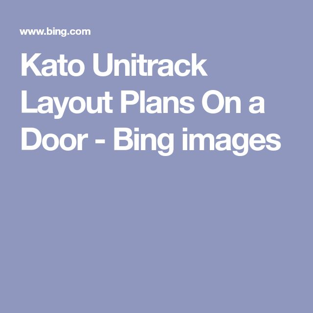 Kato Unitrack Layout Plans On a Door - Bing images