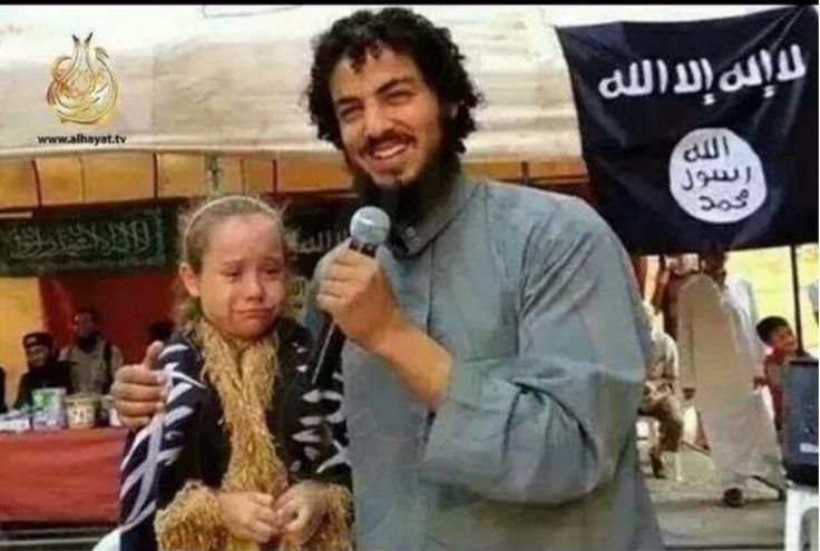 ISLAMIC STATE (ISIS) JIHADIST ANNOUNCES HIS MARRIAGE TO TERRIFED 7 YEAR OLD