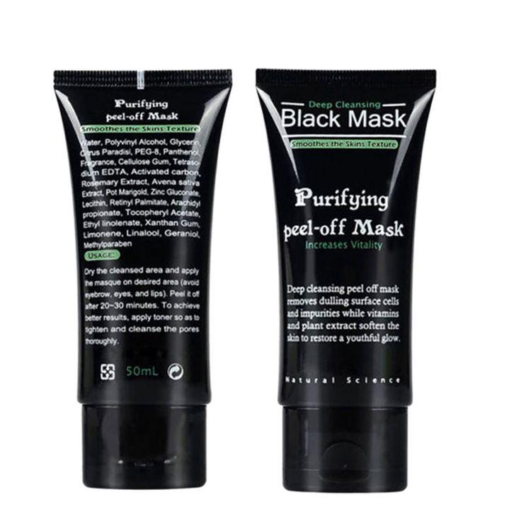 50 ml חטט מסיר אקנה מסכת פנים בוץ שחור קליפת טיהור ניקוי עמוק עבור Dropshipping