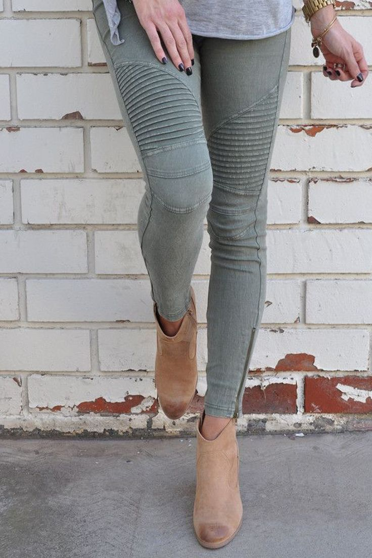 - Still looking for your favorite pair of jeans? You just found them! - You will want a pair of these leggings in every color!! - Super comfy, and stretchy, These fashion forward, moto leggings are ab