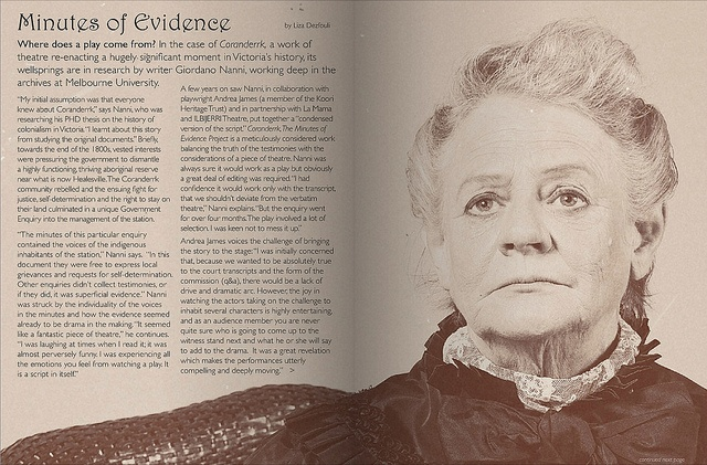 One of my portraits from the Coranderrk series appearing in the November 2012  issue of 'Trouble' Magazine.