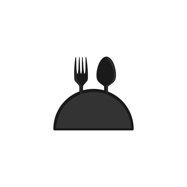 شوكة وملعقة مع إلهام تصميم شعار مطعم هو شعارات أيقونات أيقونات المطعم أيقونات الإلهام Png والمتجهات للتحميل مجانا Restaurant Logo Design Logo Restaurant Logo Design Inspiration