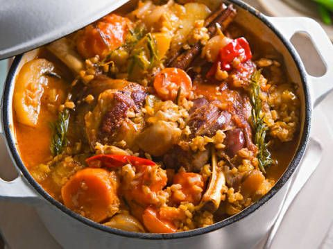 Sticky lamb shanks braised with sweet potato, rosemary and garlic: Karen Martinis popular sticky lamb shanks will be a favourite on your dinner table.