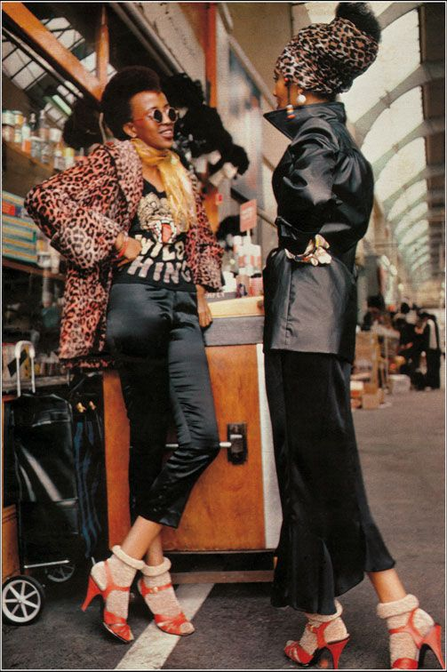 Armet Frances: picture of Brixton Market. 19 magazine - October 1972.
