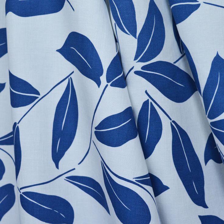 Leafy Linen Viscose Mix - Ivory. Dressmaking Fabric.
