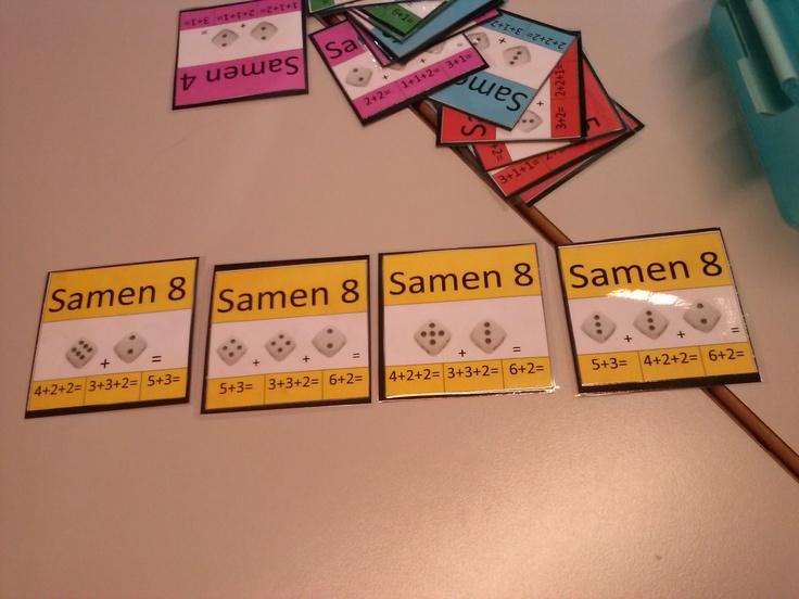 Rekenspellen: kwartet spel