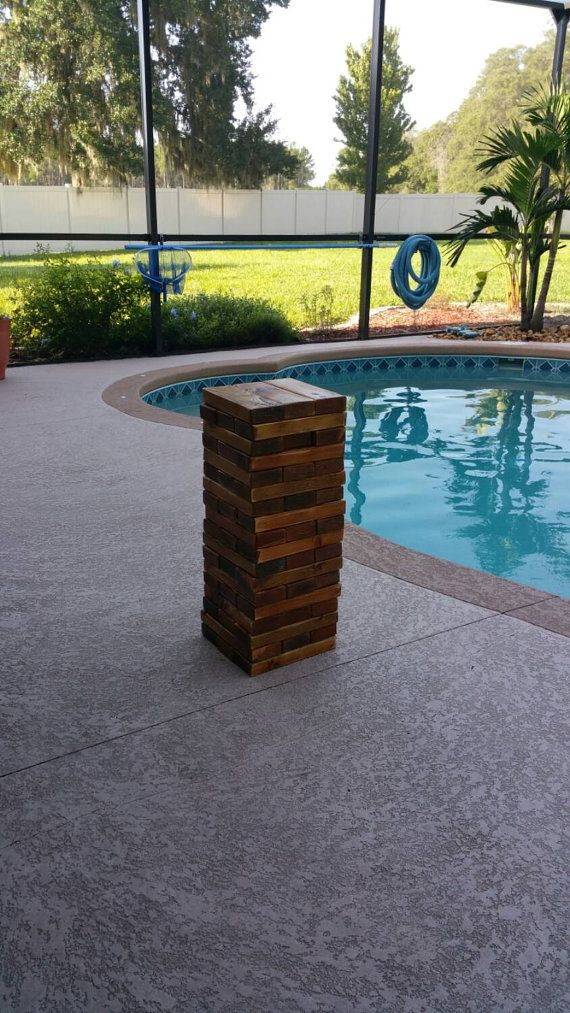 Check out this item in my Etsy shop https://www.etsy.com/listing/239217004/giant-life-size-jenga-giant-tumbling