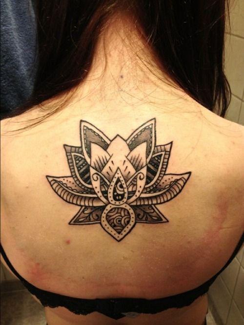 geometric lotus tattoos | tattoo #lotus #lotusflower #black and white