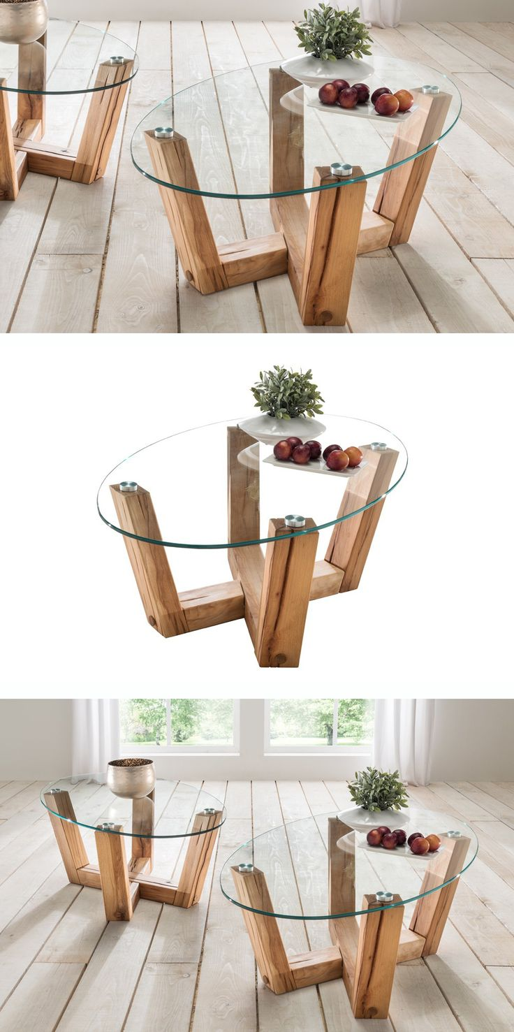 17 Best ideas about Couchtisch Glas on Pinterest  -> Couchtisch Holz Glas Oval