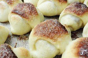 Sacramentos Rellenos con dulce de membrillo en horno de pan