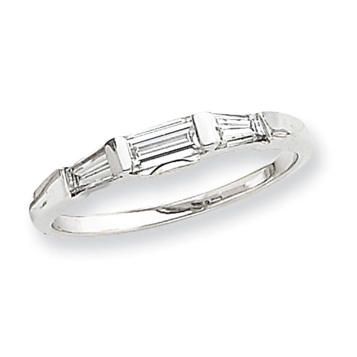 jewelry adviser weddings bridal 14k white gold baguette