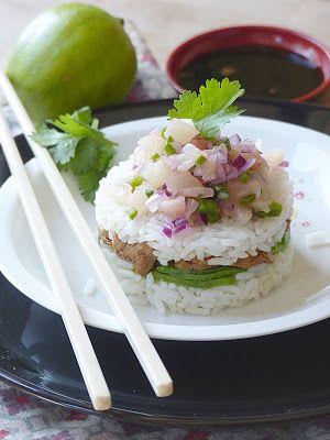 Rice cake ananas et poulet teriyaki