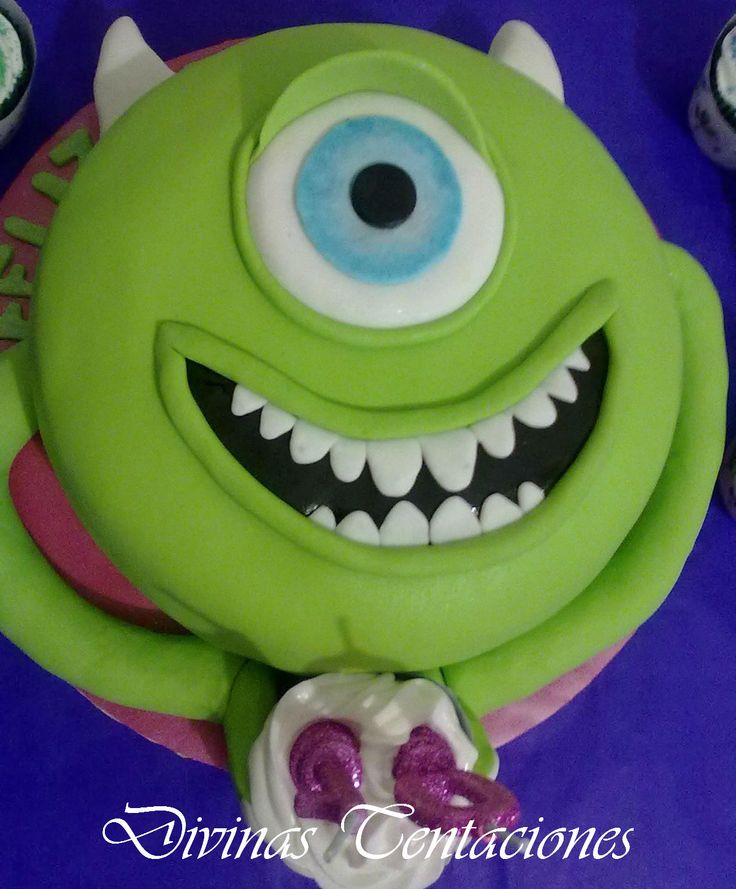 Torta Mike de Monsters Inc | Monsters University | Pinterest
