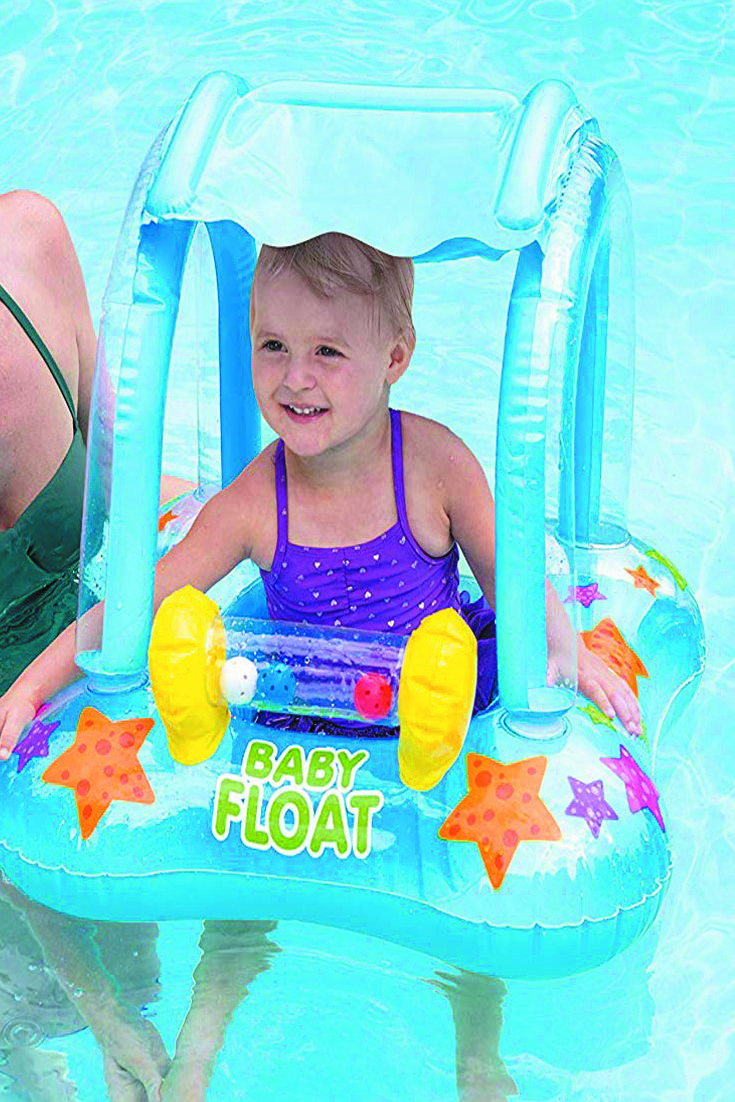 Intex Kiddie Float 32in X 26in Teach Baby To Swim Baby Float Baby Swimming