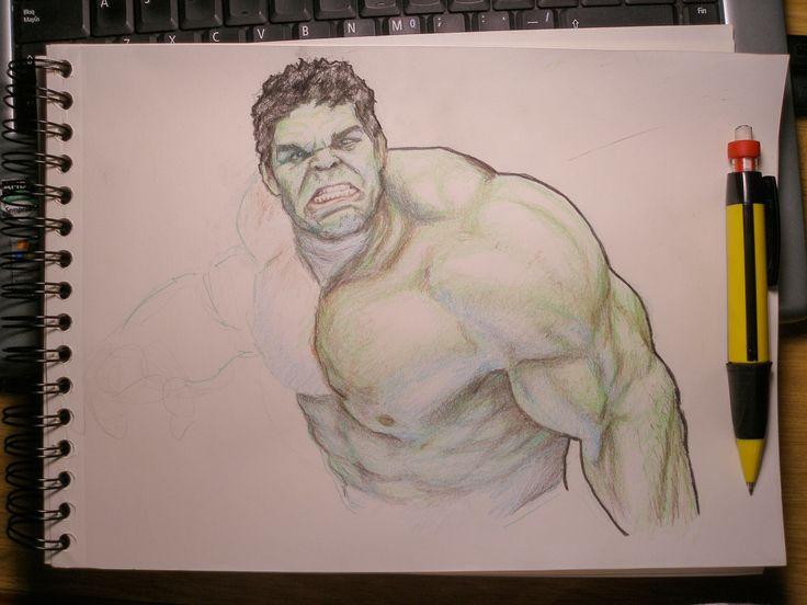 Hulk drawing