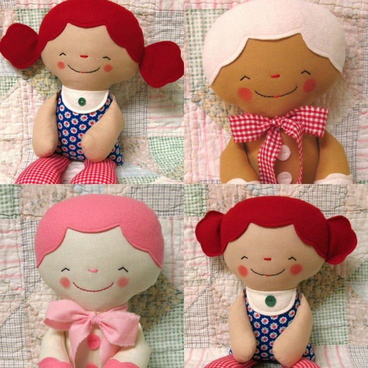 Rag Doll Pattern, Cloth Doll, Softie Pattern, Soft Toy, Cookie, Gingerbread Man, PDF Sewing Pattern, Easy, Beginner. $10.00, via Etsy.