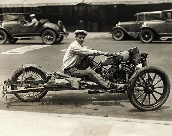 vintage photo of harley davidson motorcycle