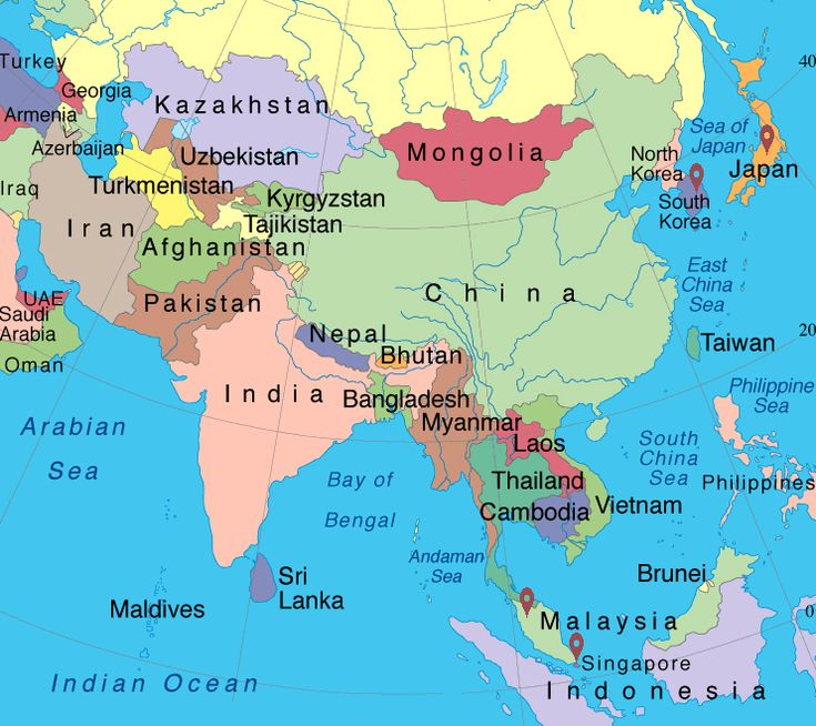 Where Is Asia On The World Map Mexico Map - Where is asia