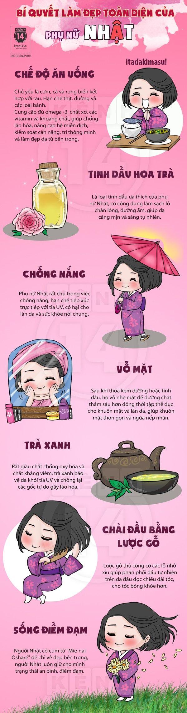 Nhung Bi Quyet Lam Trang Da Tu Cac Phu Nu Nhat Ma Ban Khong Nen TopLayout BookInfographic