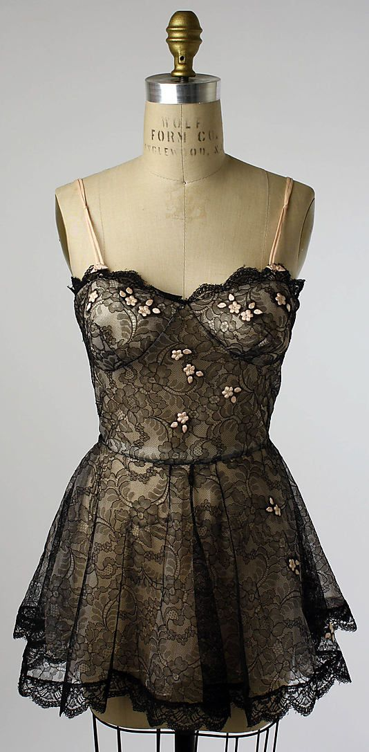 1950s black lace lingerie | Metropolitan Museum of Art - 1956