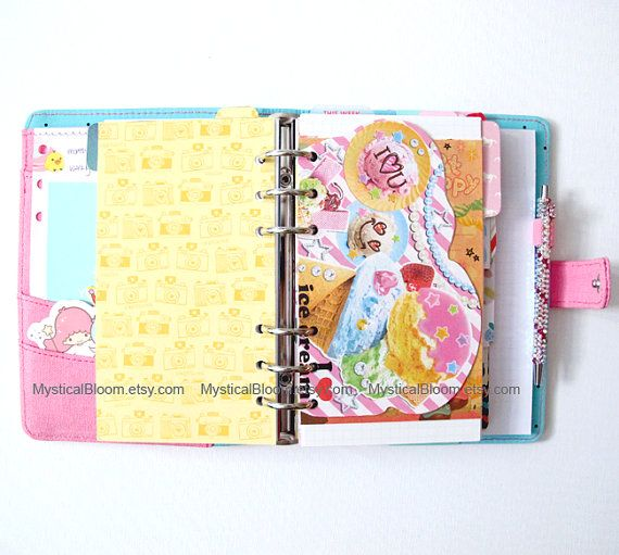 Ice Cream Dessert Sweets Filofax Refills. by MysticalBloom on Etsy, $5.20