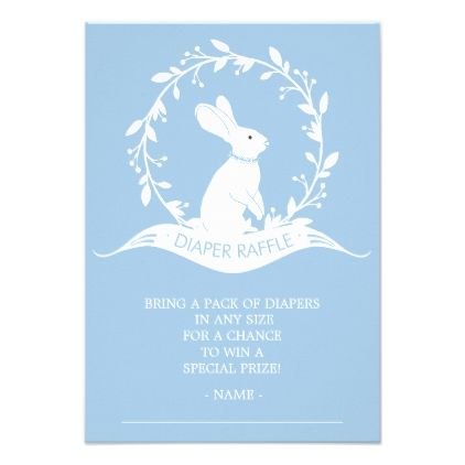 Bunny Boys Baby Shower Diaper Raffle Ticket Card - baby gifts child new born gift idea diy cyo special unique design