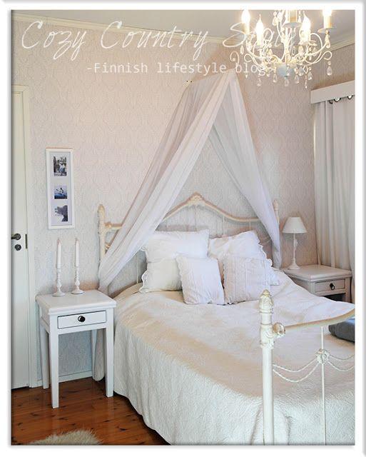 Cozy Country Style -Finnish lifestyle blog: Romanttinen makuuhuone