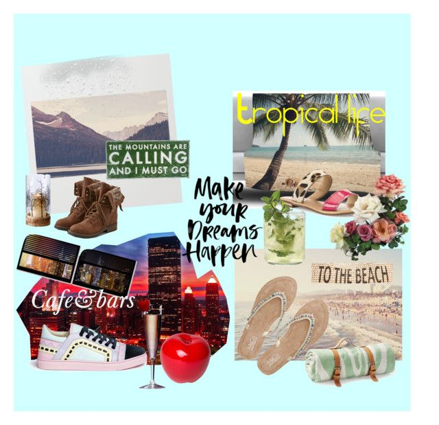 """Itineraries"" by katherine-chocolate on Polyvore featuring Sophia Webster, American Eagle Outfitters, M&Co, Geox, Maslin & Co., Trademark Fine Art, Bitossi, Dot & Bo and Style & Co."