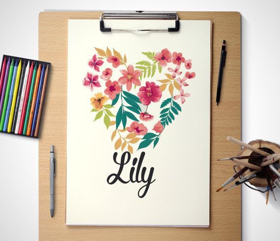 Hey, I found this really awesome Etsy listing at https://www.etsy.com/listing/229562349/printable-art-personalised-flower-heart
