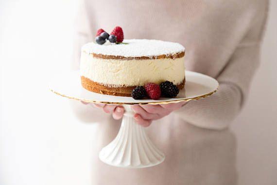 SALE Gold Cake stand Ceramic Cake Stand Dessert Stand Cake