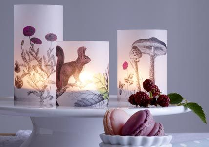Image transfer candles w/download
