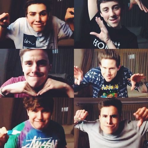 O2L | Sam Potterff, Trevor Moran, Connor Franta, Ricky Dillon, Jc Caylen, Kian Lawley | O2L Doing their Signature Faces/Poses :P ❤️