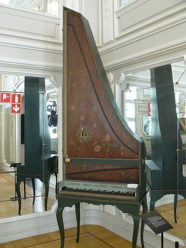 Clavicytherium de 1751 par Albert Delin - Bruxelles, Musée des Instruments de Musique