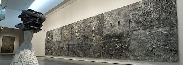 Anselm Kiefer - The Secret Life of Plants (1998), Cardboard, sunflower seeds and photography, 107 × 85 × 10 cm - Contemporary sacred art | CoSA
