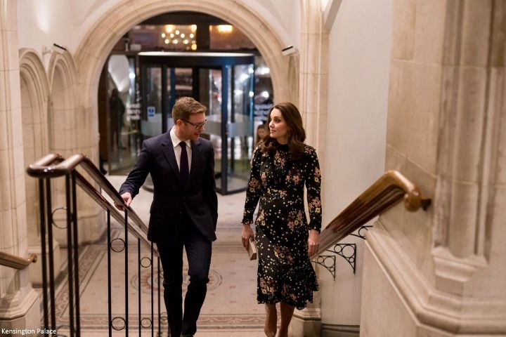 Following the first Royal Foundation Forum this morning , the Duchess of Cambridge visited her patronage, the National Portrait Gallery thi...