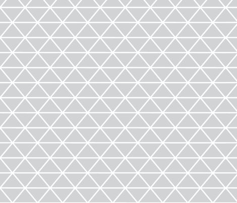 Triangle Grey fabric by curious_nook on Spoonflower - custom fabric, $17.50/yd