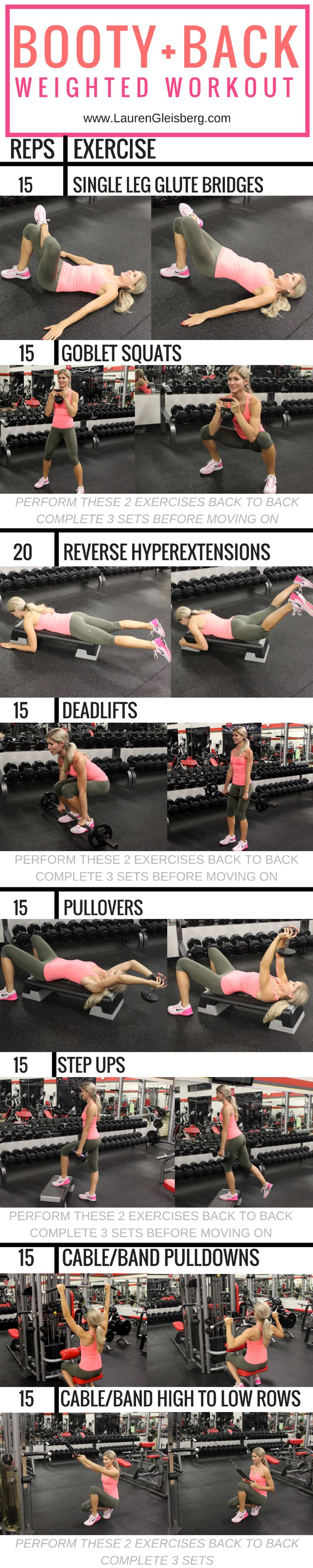 Booty & back weighted workout