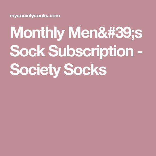 Monthly Men's Sock Subscription - Society Socks