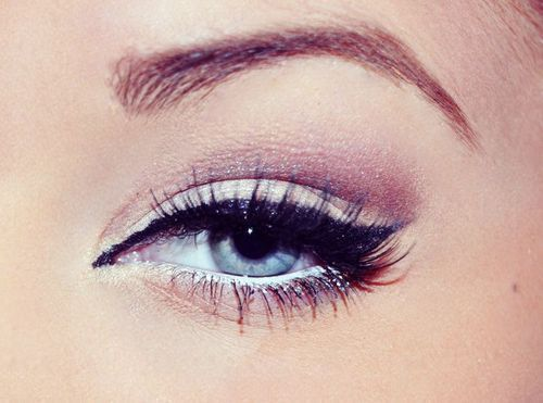 White eyeliner- makes your eyes look more open/awake- maybe I should do this for work