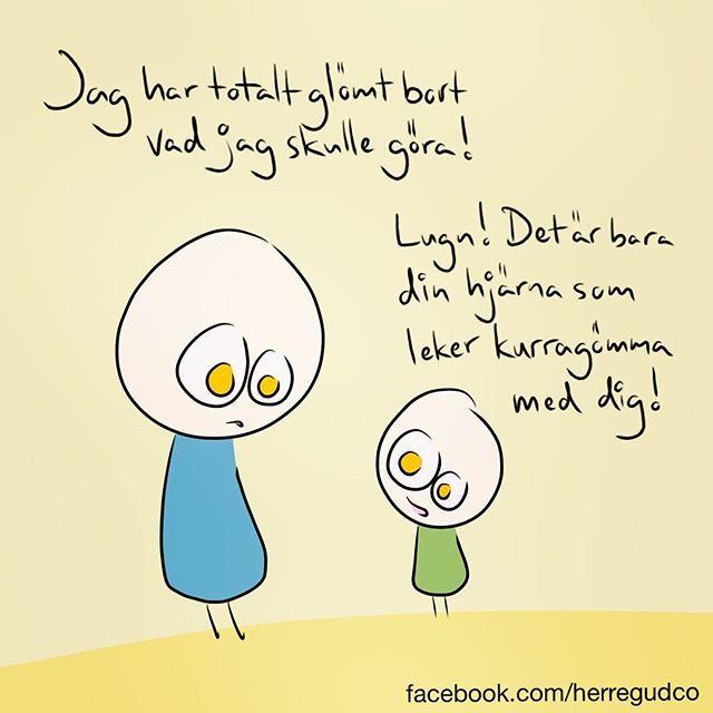 herregudco #glömtvadjagskullegöra #illustration #linköping #hjärnanlekerkurragömmameddig #kurragömma #hjärna #sketchbook #artwork