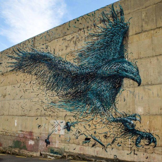 Fin septembre, l'artiste chinois DALeast était l'un des prestigieux invités du Dunedin Street Art Festival en Nouvelle-Zélande.