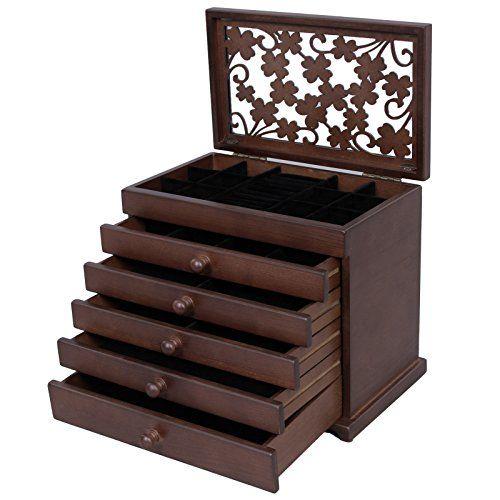 Songmics Caja joyero de madera Organizador para bisutería... https://www.amazon.es/dp/B01JRNFFW8/ref=cm_sw_r_pi_dp_x_RDYhybC34GTAM