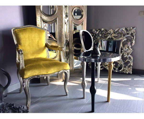 Regency Krzesło z Podłokietnikami Żółte - 2