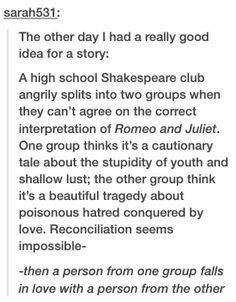 High school Shakespeare club star-crossed lovers